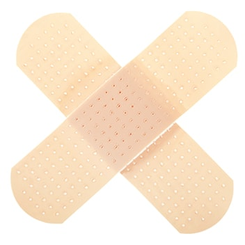 crossed band-aids