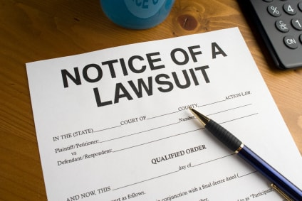 notice of a lawsuit